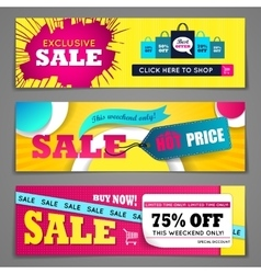 Sale banners design set vector