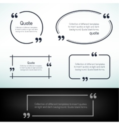 simple quote template vector image