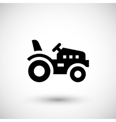 Mini tractor icon vector image