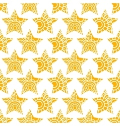 Yellow star seamless pattern vector