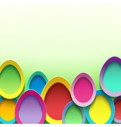 Stylish background with easter egg vector