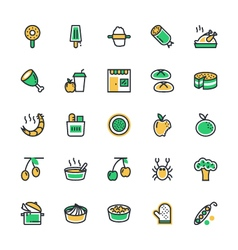 Food Vegetables Icons 7 vector image