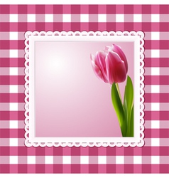 Vintage tulip background vector