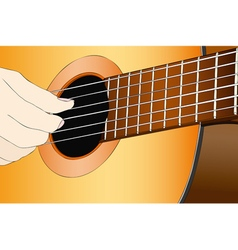 A musician with the classical guitar vector