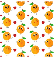 Apricots seamless pattern vector image vector image
