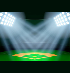 Background for posters night baseball stadium in vector image vector image