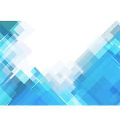 Blue rectangle background vector image vector image