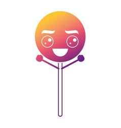 Cartoon round lollipop swirl kawaii character vector