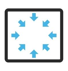 Compact arrows framed icon vector