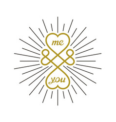 Creative love symbol vector