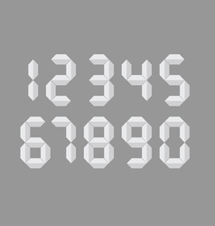 digital number vector image