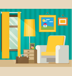 flat style workplace accesories vector image vector image