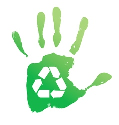 Handprint recycle vector image