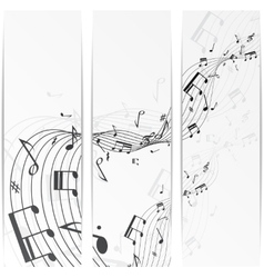 Music notes banner vector