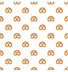 Pretzel for oktoberfest pattern vector