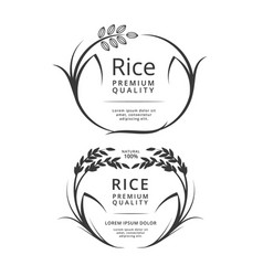 Rice logo or label products vector
