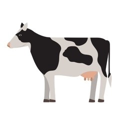 Silhouette colorful cow with spots vector