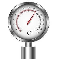 Temperature meter gauge vector