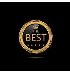 The Best label vector image