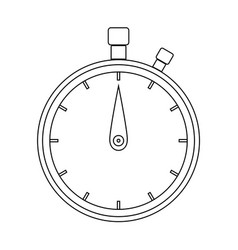 The stopwatch the black color icon vector