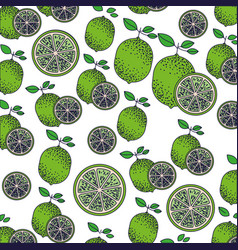 White background with pattern of lemon fruits and vector