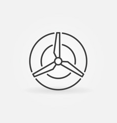 Wind energy concept icon vector
