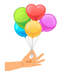 Balloon set in human hand vector