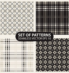 Set of seamless knitted patterns graphics vector