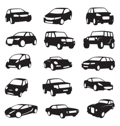 Cars silhouettes vector