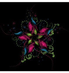 Floral abstract background vector