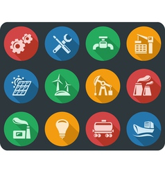 Industrial buttons vector