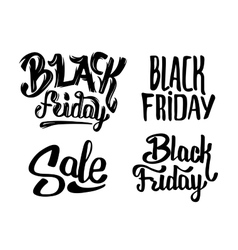 Black friday sale typography stickers vector