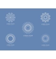 Set of luxury logotype white logotype white vector