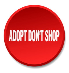 adopt dont shop vector image