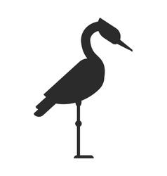 Bird black silhouette vector image vector image