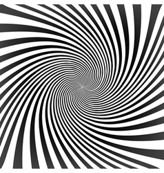 black twisted rays on white vector image
