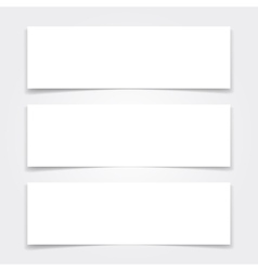 Blank banners mock up set vector image vector image