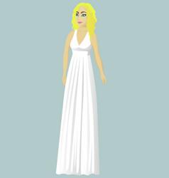 bride in greek wedding dress vector image vector image
