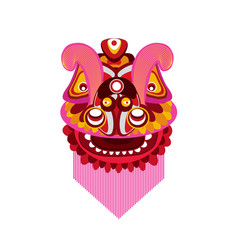 Chinese new year lion dance head vector