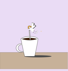 Cofee fairy vector