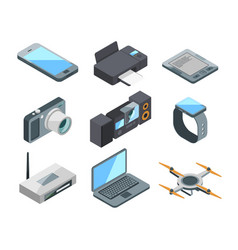 computer laptop smartphone and other electronic vector image