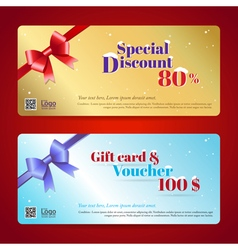 Elegant discount gift card and voucher template vector image vector image