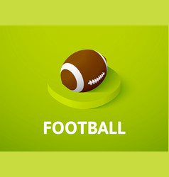football isometric icon isolated on color vector image