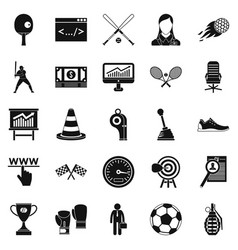 function icons set simple style vector image