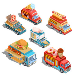 isometric of cars fast delivery of vector image vector image