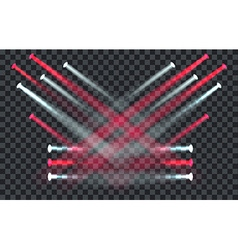 Light Effect Spotlight with Transparent Background vector image vector image