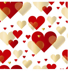 modern luxury valentines day seamless pattern vector image