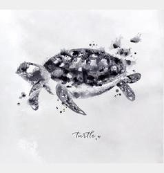 Monotype turtle black vector