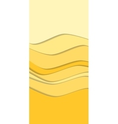 Sand curve wave line background vector image