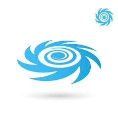 Sea tornado logo storm vector image